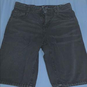 Black jean mango shorts